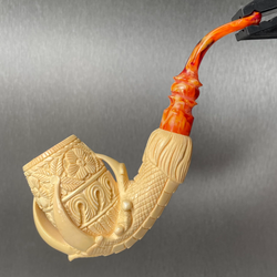 Meerschaum Medet Signature Claw W/Floral Pipe By Paykoc M74006