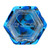 Ashtray Eyce Glass and Silicone 1 Count Assorted Colors