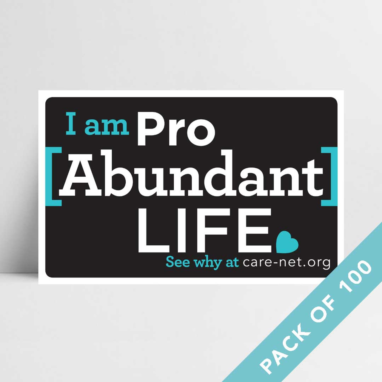 Pro Abundant Life Signs (pack of 100)