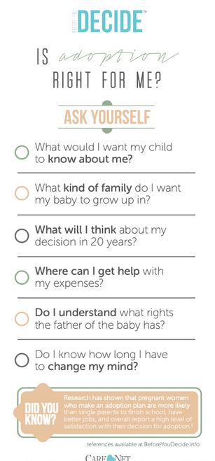Before You Decide: Adoption Tip Card (Pack of 50)