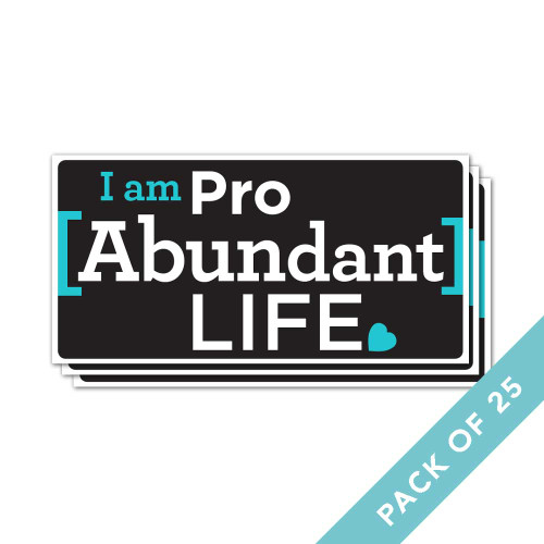 I Am Pro Abundant Life Stickers (Packs of 25)