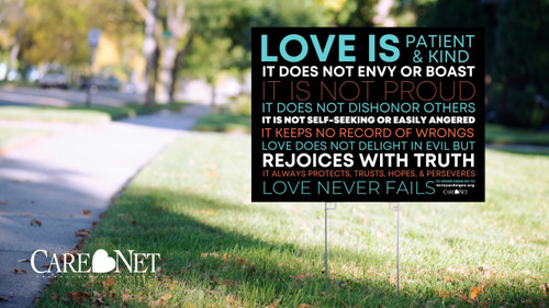 """""""Love is..."""" Yard Sign - Packs of 10"""