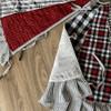 """48"""" Buffalo Lodge Quilted Homespun Plaid Christmas Tree Skirt"""