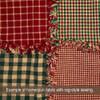 Primitive Red 2 Homespun Cotton Fabric