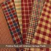 Primitive Red 5 Homespun Cotton Fabric