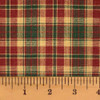 Vintage Christmas 2 Plaid Homespun Cotton Fabric