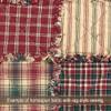 Vintage Christmas 3 Plaid Homespun Cotton Fabric