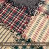 Vintage Christmas Stripe Plaid Homespun Cotton Fabric