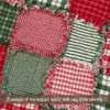 40+ Merry Christmas Red & Green Plaid Homespun 6 inch Quilt Squares