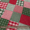 40+ Merry Christmas Red & Green Plaid Homespun 5 inch Quilt Squares