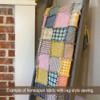 40+ Spring Garden Plaid Homespun 6 inch Quilt Squares