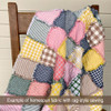 Spring Garden Plaid Homespun Quilt Kit