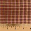 Red & Khaki 1 Homespun Cotton Fabric