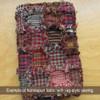 Red & Khaki 4 Homespun Cotton Fabric