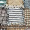 Nautical Blue Stripe Homespun Cotton Fabric
