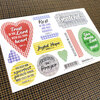 Blessed Faith & Fabric Encouragement Stickers - 10 stickers