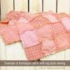 Petal Pink Candy Stripe Homespun Cotton Fabric