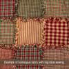Primitive Red Ticking Stripe Homespun Cotton Fabric