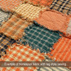 Pumpkin Spice Ticking Stripe Homespun Cotton Fabric