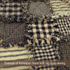 Primitive Black 3 Homespun Cotton Fabric