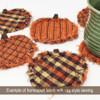 40 Autumn Spice Homespun 6 inch Quilt Squares