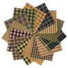 40 Cozy Homespun 6 inch Quilt Squares