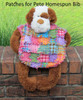 Patches for Pete Ragged Baby Bib Pattern - DIGITAL