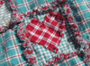 Sweetheart Throw Ragged Homespun Pattern - DIGITAL