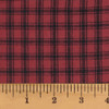 Mountain Lodge 1 Red Plaid Homespun Cotton Fabric