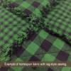 Green Buffalo Check Homespun Cotton Fabric