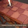 Heritage Red Stripe Homespun Cotton Fabric