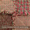Cranberry Christmas 3 Plaid Homespun Cotton Fabric
