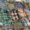 Primitive Green 2 Plaid Homespun Cotton Fabric