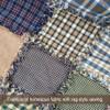 Primitive Green 1 Plaid Homespun Cotton Fabric