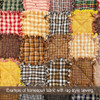 Autumn Brown Plaid Homespun Cotton Fabric