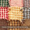 Autumn Red Mini Buffalo Homespun Cotton Fabric