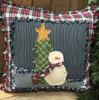 Shabby Snowman Pillow Pattern - Digital