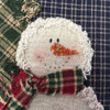 Shabby Snowman Pillow Pattern - Digital