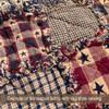 Large Star Red Dobby Homespun Cotton Fabric