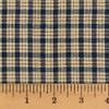 Farmhouse Navy Blue Small Plaid Homespun Cotton Fabric