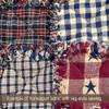 Country Navy Blue Small Plaid Homespun Cotton Fabric