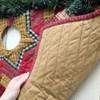 "48"" Quilted Homespun Plaid Christmas Tree Skirt"