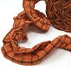 Ozark Orange Ruffled Trim/Garland  - 1 roll - 144 inches (12 feet)