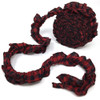 Red & Black Mini Buffalo Ruffled Trim/Garland  - 1 roll - 144 inches (12 feet)