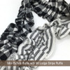 White & Black Mini Buffalo Ruffled Trim/Garland  - 1 roll - 144 inches (12 feet)