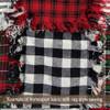White & Black Mini Buffalo Check Homespun Cotton Fabric