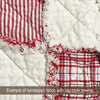 Peppermint Red & White Tartan Homespun Cotton Fabric