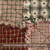 Country Red & Green Homespun Cotton Fabric