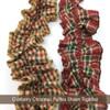 Cranberry Christmas 3 Ruffled Trim/Garland  - 1 roll - 144 inches (12 feet)