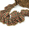 Cranberry Christmas 3 Ruffled Trim/Garland  - 1 roll - 144 inches (12 feet)